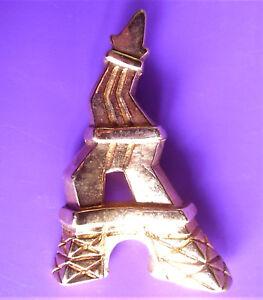Objectif 2540 / Frederic Volle / Tour Eiffel / Broche En Resine Doree
