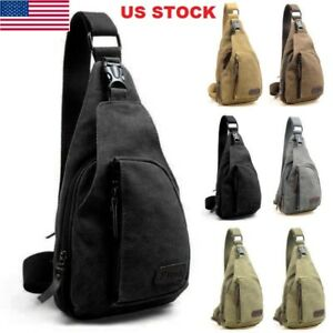 33d83ea7b6 Men Boy Canvas Bag Pack Travel Outdoor Cross Body Messenger Shoulder ...
