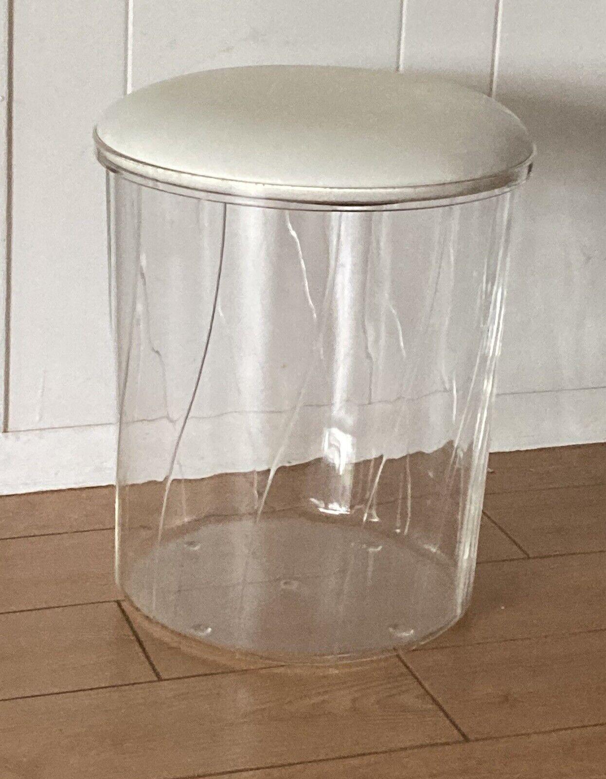 Orren Ellis Damore Ellipse Acrylic Vanity Stool For Sale Online Ebay