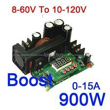 DC-DC 900W 15A 8-60V To 10-120V 12v 24v 19v NC CC/CV Boost Power Supply Module