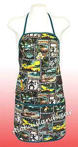 Unisex canvas Hawaiian print apron 202Green