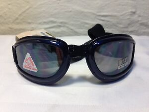 Pugs Eyegear Action Sport Goggles Polycarbonate Lenses UV400 NAVY BLUE
