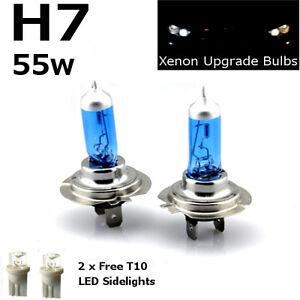 H7-55w-SUPER-WHITE-XENON-499-Headlight-Bulbs-HID-12v-LED-W5W-501-Sidelights-B