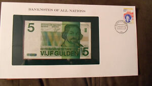 Banknotes-of-All-Nations-Netherlands-5-gulden-1973-P-95-UNC-2495