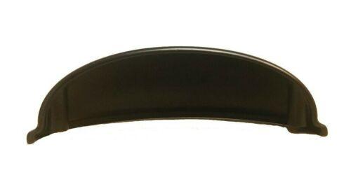 "Cup Handle Pull Knob Kitchen Bathroom Cabinet Hardware Matte Black ZC5926 3/""cc"