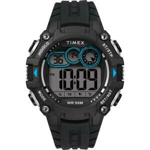 Timex-Men-039-s-TW5M27300-Gray-Dial-Black-Silicone-Strap-Digital-Sports-Watch