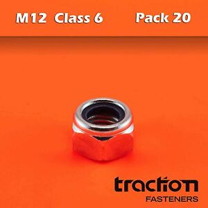 M12-Nyloc-Nut-Hexagon-Class-6-Metric-12mm-Hex-Zinc-Plated-Nylon-Insert-Lock-YI04