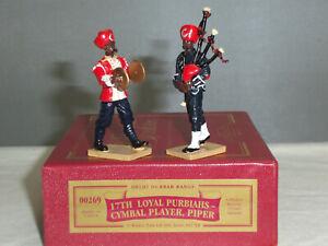 Britains 00269 Armée indienne 17ème joueur de Cymbale Purbiah Band Piper Toy Soldier Set 50242002690