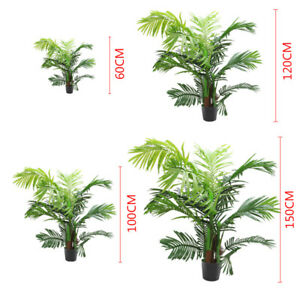 Image Is Loading 1 2x Potted Artificial Palm Tree Leaf Exotic