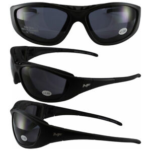 C2 Safety Shop Glasses with Black Frame and 1.5x Smoke Lenses