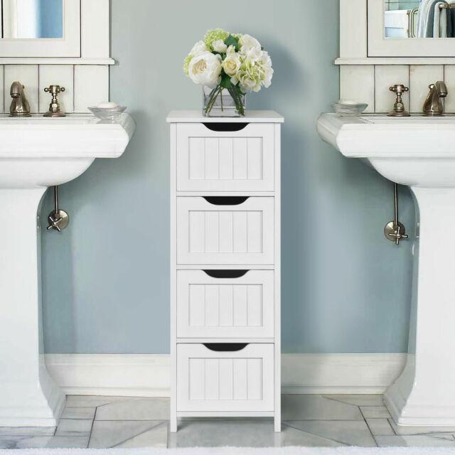 Cabinet Floor Wooden Bathroom Storage