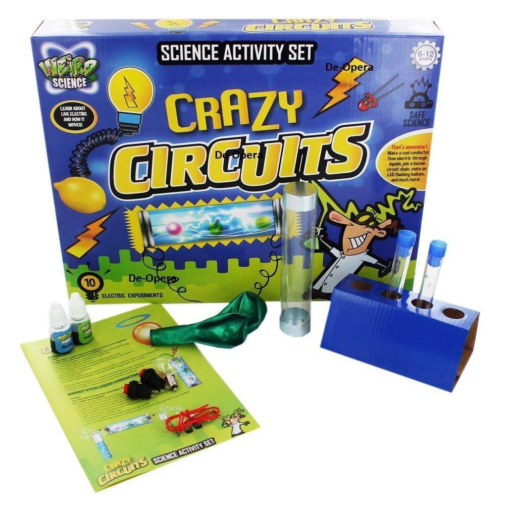 Weird Science - Crazy Circuits Science Set Kid Fun Gift Games Educational Fun