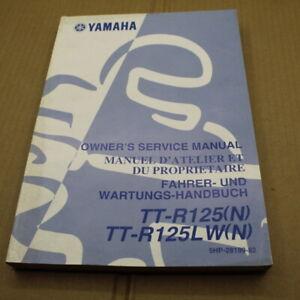 MANUEL REVUE TECHNIQUE D ATELIER YAMAHA TT-R 125 LW 2001 N TTR ENTRETIEN