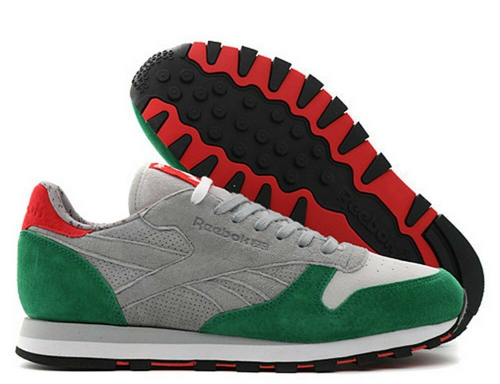 Reebok Cl Classic Leder X Hanon 3 Castles Sneakers Grau 8-13 Green New  Uomo 8-13 Grau 3a7af2