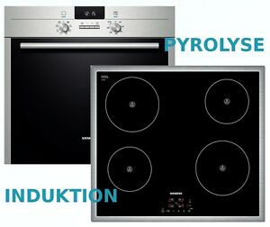 herdset induktion autark siemens pyrolyse backofen induktions kochfeld neu ebay. Black Bedroom Furniture Sets. Home Design Ideas
