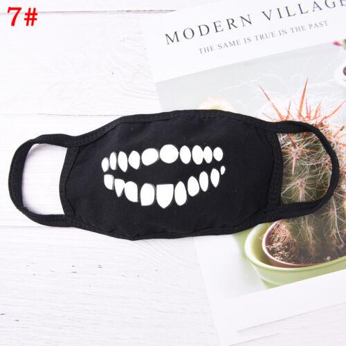 Light Anti dust keep warm Cool Mask Black Noctilucent Cotton Face Mask