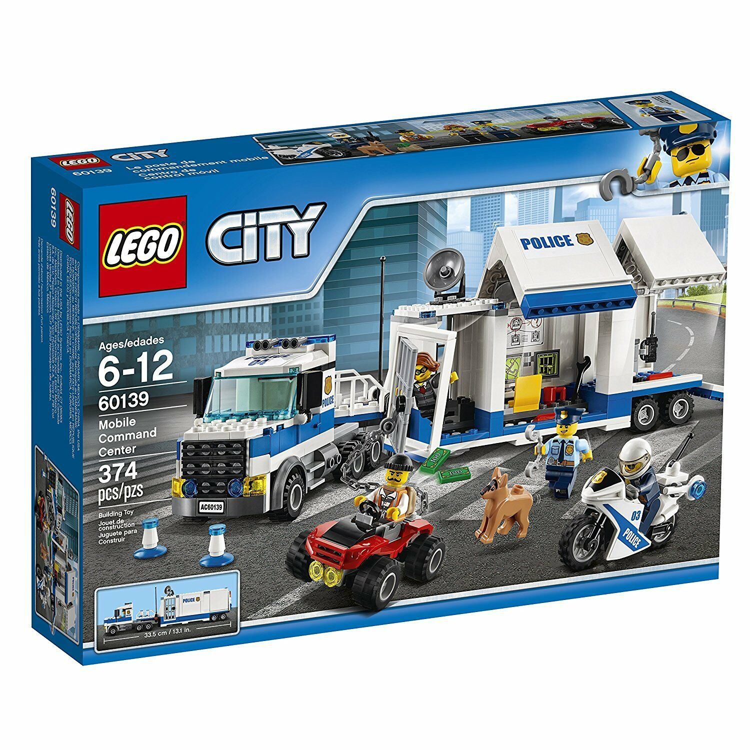 LEGO City Police Mobile Command Command Command Center 60139 Building Kit c83250