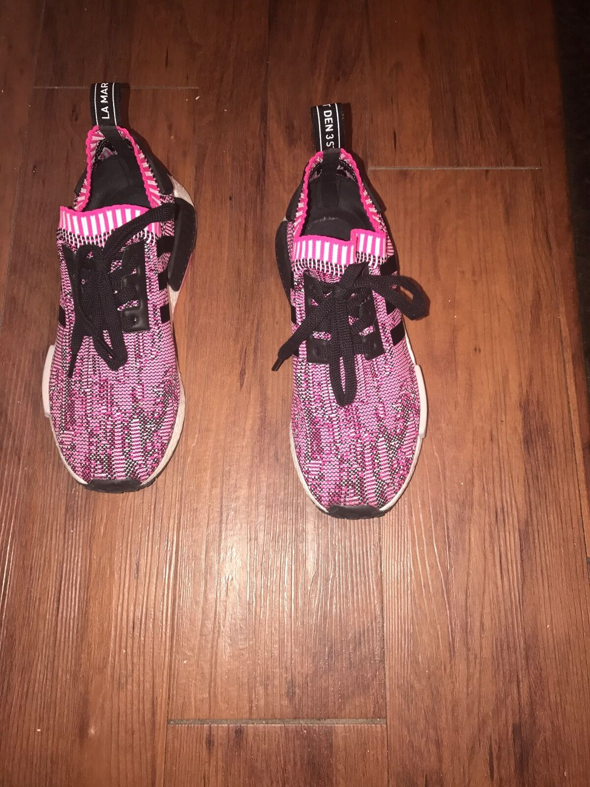 Adidas nmd  r1 womens, pink and black, size 8 8 8 e94830