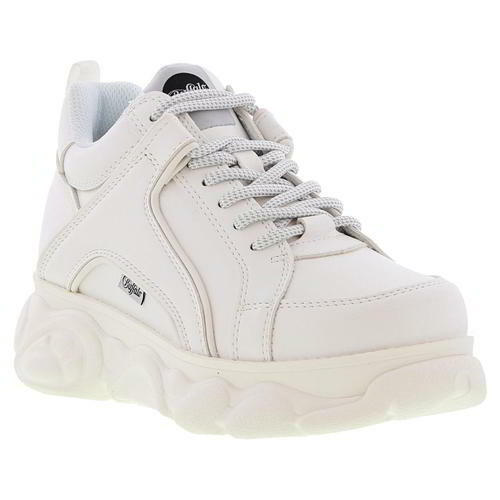 Buffalo Boots Womens Ladies Corin White Chunky Platform Trainers Shoes Size 3-8