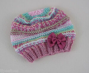Baby-Knitting-Pattern-56-TO-KNIT-Beginners-Baby-Girls-Beanie-Hat-in-Four-Sizes