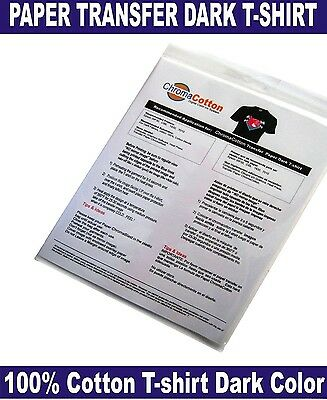 50 ChromaCotton Transfer Paper 11x17 for for Black and Dark T-shirt Cotton