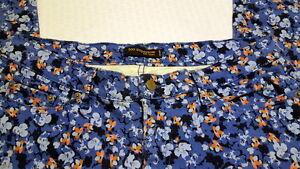 Levi-039-s-524-034-too-superlow-034-Jeans-Blue-Floral-Print-32-x-32