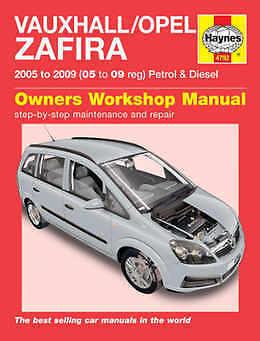 VAUXHALL Zafira Riparazione Manuale Haynes WORKSHOP MANUALE DI SERVIZIO 2005-2009 4792