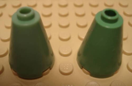 LEGO LEGOS  NEW Set of Two Cone 2 x 2 x 2 Sand Green