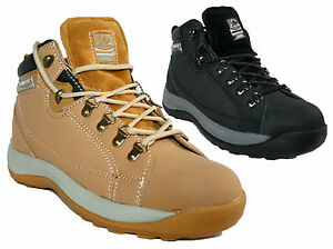 735edbb28b5 LADIES WORK BOOTS STEEL TOE CAPS BOOTS LACE UP GROUNDWORK GR386 ...