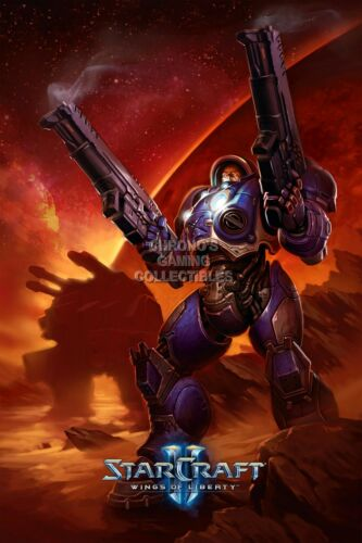 RGC Huge Poster EXT123 StarCraft II Wings of Liberty Jim Jaynor Art PC