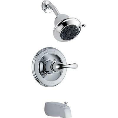 Delta T13420-SHC Classic 1-Handle Tub and Shower Faucet Trim Kit in Chrome