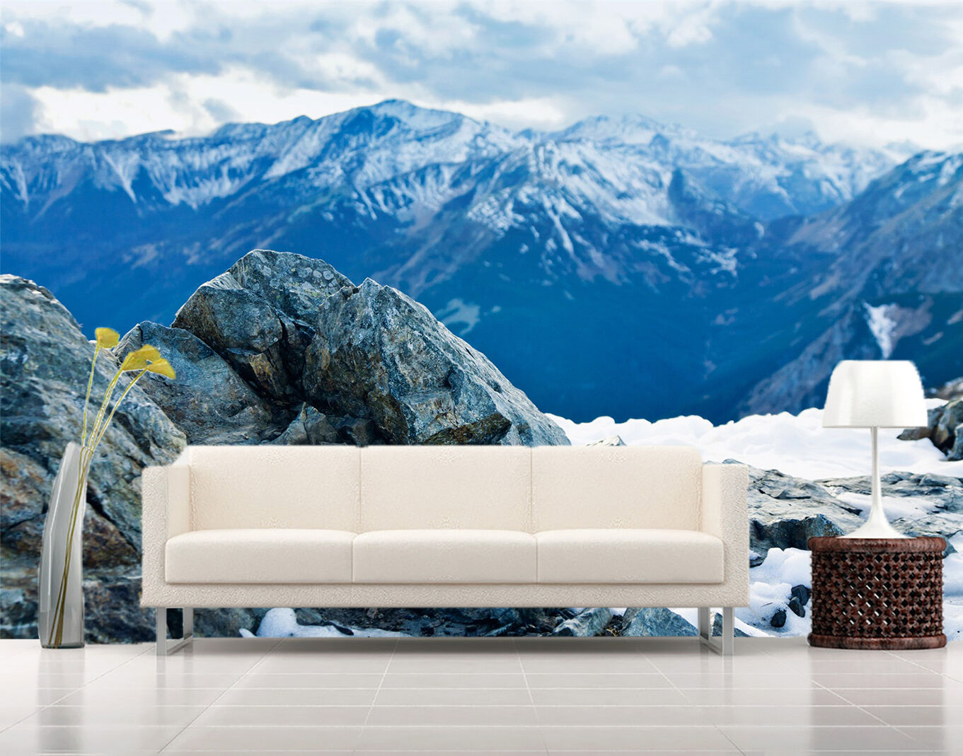 3D mountain snow beautiful Wall Paper Print Decal Wall Deco Indoor wall Mural