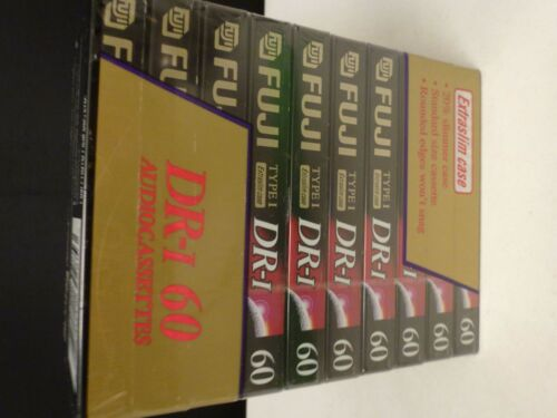 Audio Cassette Blank FUJI DR-I  60 Minute  Tapes 10 Pack Type I Extraslim Case