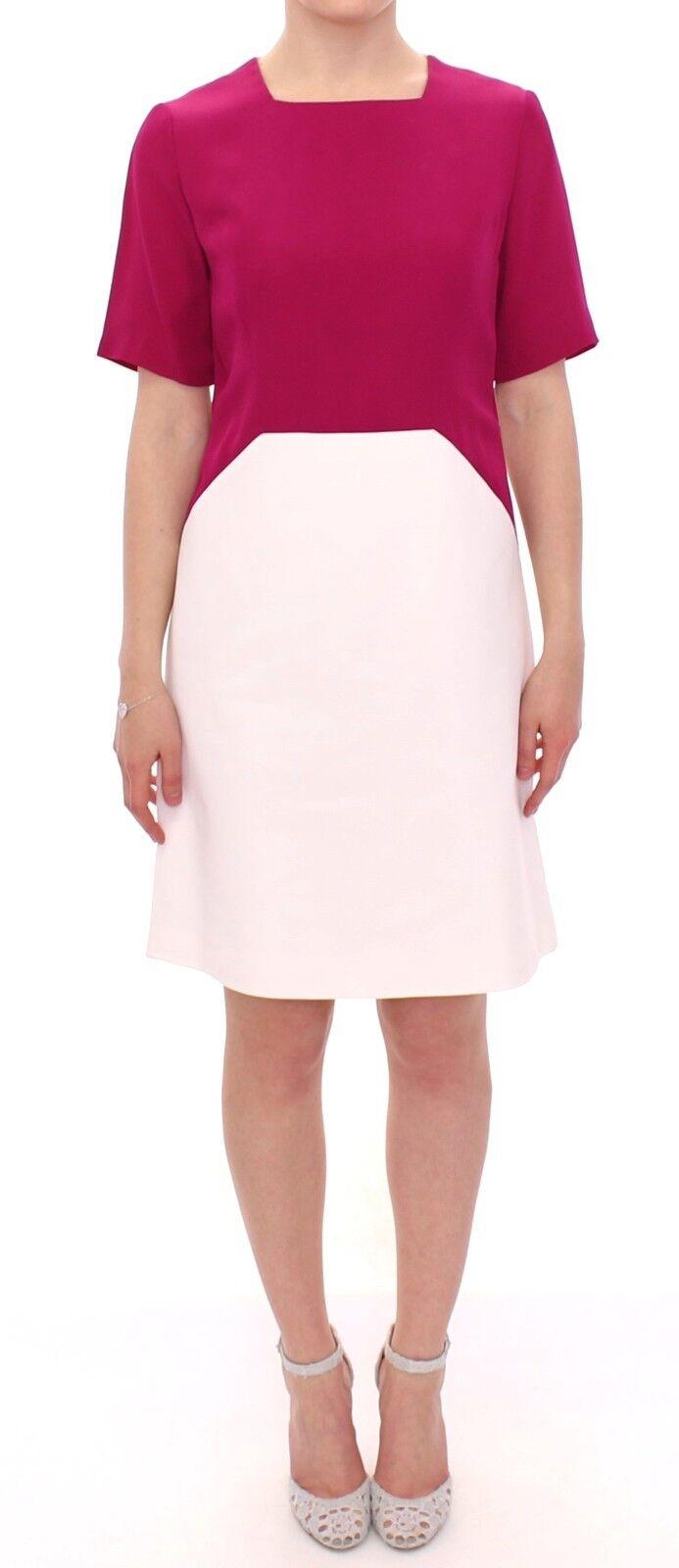 NWT COTE Weiß Rosa Mini Above Knee Sheath Straight Dress IT40   US6   S