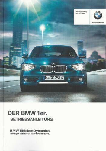 BMW 1er f20 f21 Manuel 2014 mode d/'emploi manuel BA J