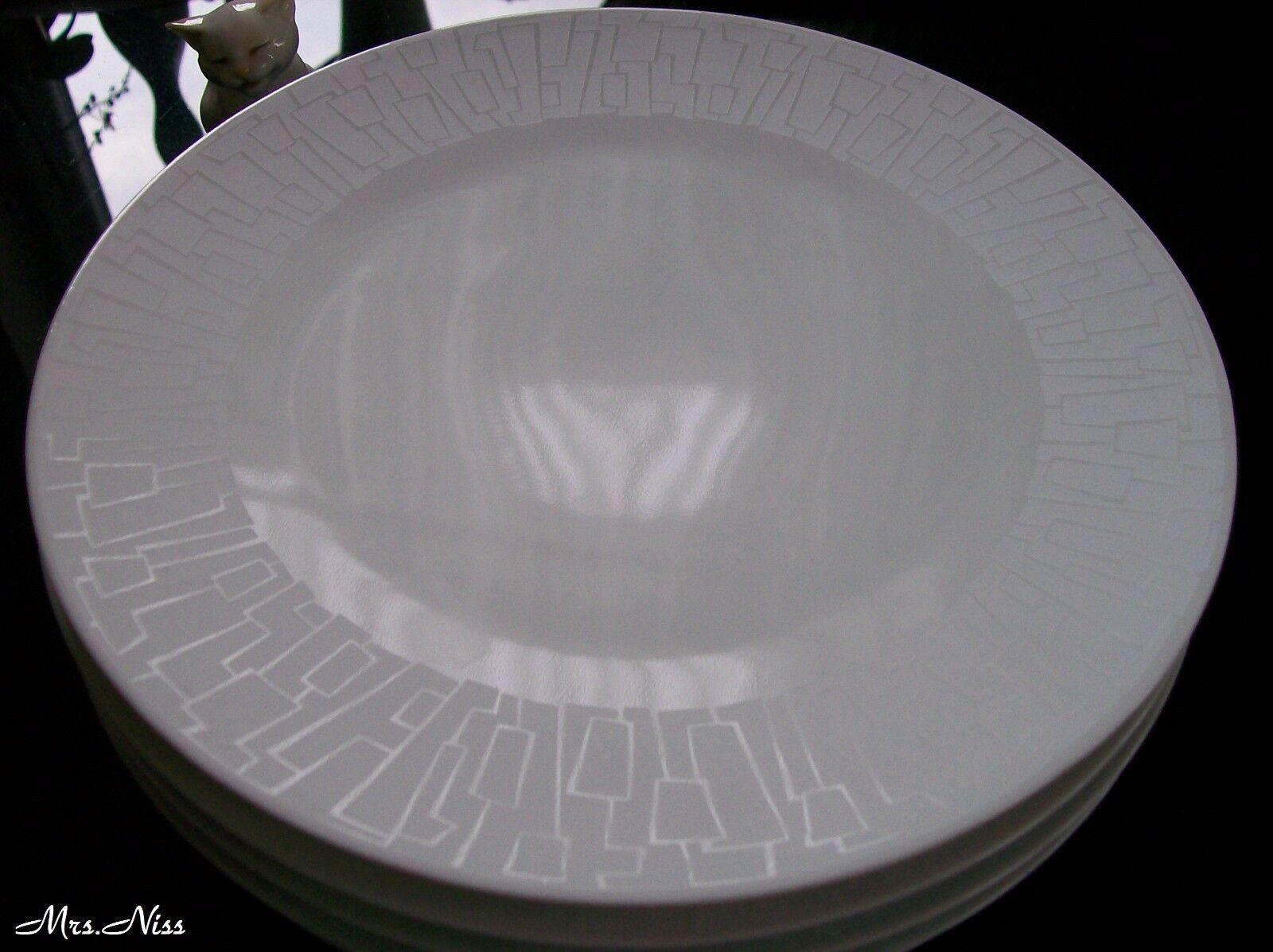 Rosenthal TAC Skin Silhouette-STUDIO LINE - 6 x Petit déjeuner Assiette 22 cm  NOUVEAU