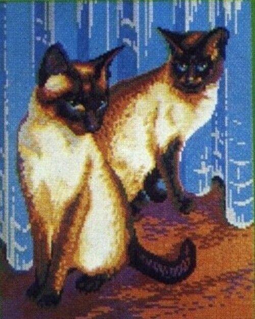 Mini Stecksystem Stecksystem Stecksystem Siam Katzen ca. 9.500 Teile mit XXL-Steckvorlage Nr. 41257 b086de