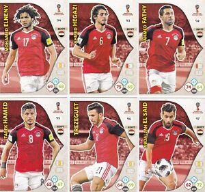 156a18655 EGYPT X 15 CARDS, PANINI ADRENALYN XL RUSSIA 2018 WORLD CUP, TEAM ...