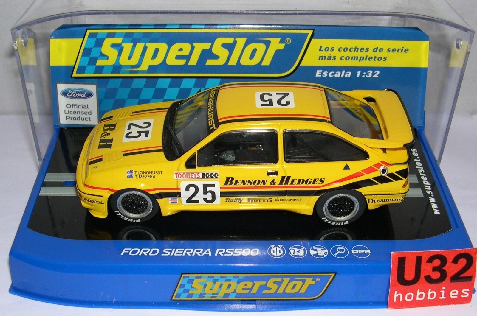 SUPERSLOT H3868 FORD SIERRA RS500 TOOHEYS 1000 1988 SCALEXTRIC UK MB
