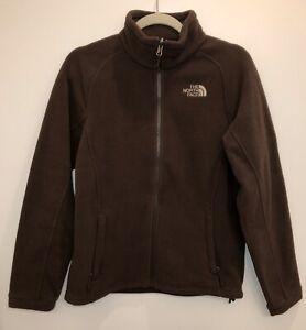 The-Northface-Lightweight-Fleece-Jacket-Women-s-Size-Medium-Brown-Full-Zip