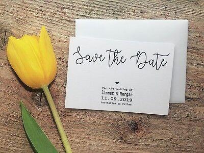 Acquista A Buon Mercato Matrimonio Personalizzate Salva La Data Cards + Magnete + Buste Giorno E Diamante H21a7-mostra Il Titolo Originale Scelta Materiali