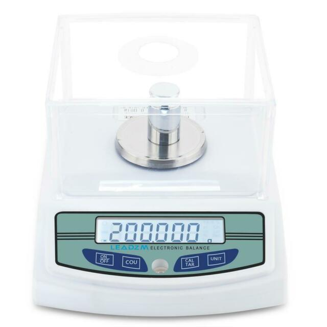 3000g//0.01g Precision Balance Scale LCD Digital Electronic Analytic Balance Scientific Lab Instrument Laboratory Scale White