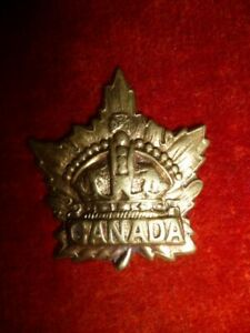 034-Canada-034-WW1-General-Service-Collar-Badge-Type-034-A-034-Canada-CEF