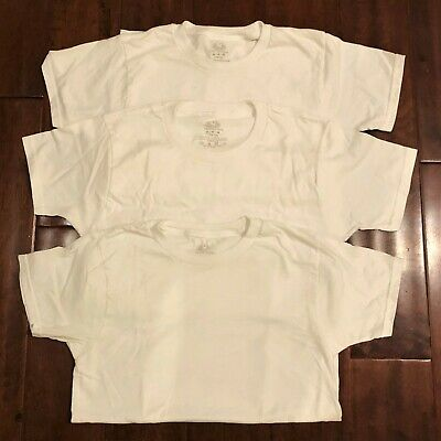 3 FRUIT OF THE LOOM  WHITE CHILDS T SHIRT ALL SIZES