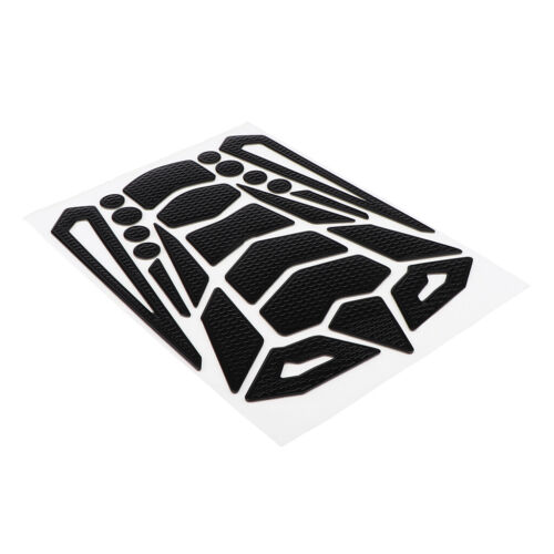 Oil Fuel Gas Tank Pad Decal Protector Sticker for Motorbike Universal,Black