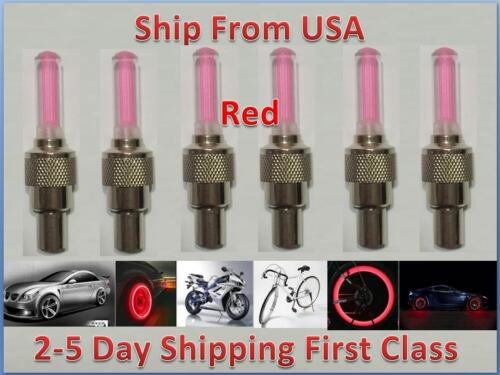 Bike Red LED Flashing Tire Light Valve Sealing Cap Car Bicycle Motorcycle