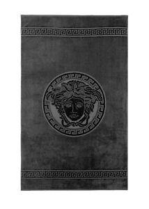 VERSACE Two x Medusa Classic black hand towels - NEW!