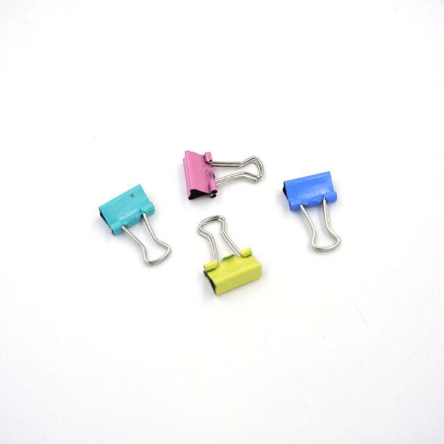 60x Metall Binder Clips für File Paper Notebook Organizer School Office SupplyZU
