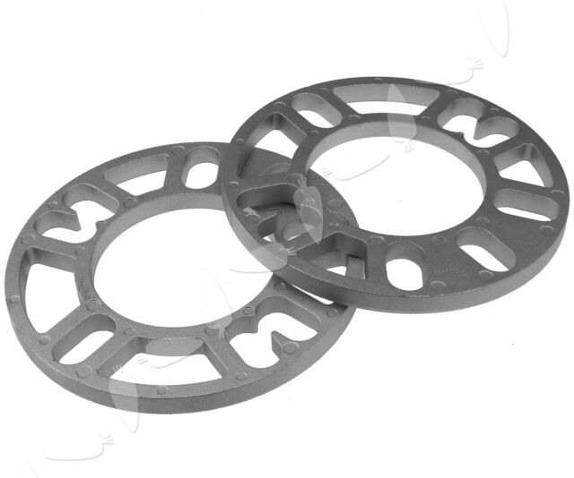 Pair 10mm Aluminum Alloy Wheel Spacers Shims Universal Fit for 4//5 Stud Wheel