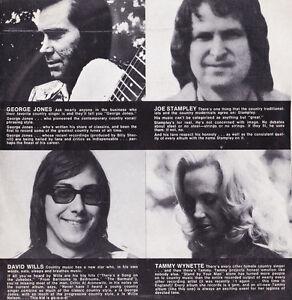 33t-GEORGE-JONES-DAVID-WILLS-TAMMY-WYNETTE-JOE-STAMPLEY-Epic-demo-record-1975